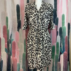 Target Merona Animal Print Shirt Hi Low Dress